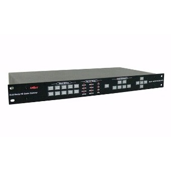 Full HD Scaler Switcher 10:1x2 2xDVI/HDMI-In 2xDVI-Out