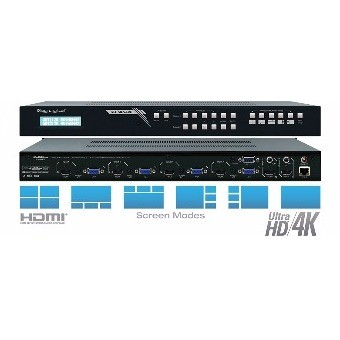 Video Wall Processor HDMI-VGA-Audio analogico 4/in 4/out - EDID